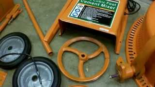 getlinkyoutube.com-Harbor Freight 3.5 Cubic Foot Cement Mixer Assembly and Review. Item 67536