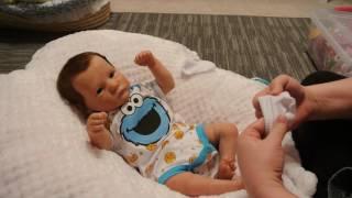 getlinkyoutube.com-COOKIE MONSTER CUTNESS WITH BABY AADEN!!!