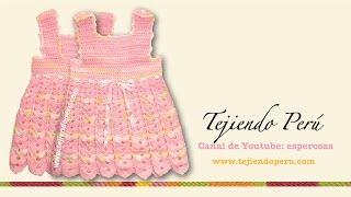 getlinkyoutube.com-Vestido para bebita de 0 a 3 meses tejido en crochet (Parte 1: pechera)