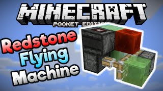 getlinkyoutube.com-REDSTONE FLYING MACHINE in MCPE! - Simple MCPE 0.15.0 Redstone Build - Minecraft PE (Pocket Edition)