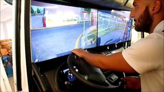 getlinkyoutube.com-Euro Truck Simulator 2 inside Real Truck Cab