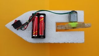 getlinkyoutube.com-How to Make a Simple Toy Boat with DC Motor at Home