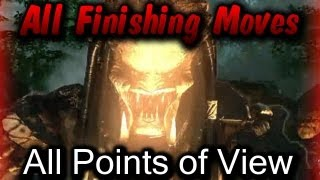 getlinkyoutube.com-AvP3 All Finishing Moves All POVs Fatalities Aliens vs Predator 2010