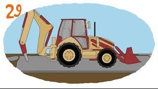 getlinkyoutube.com-Мультик про строительную технику и рабочие машины - Раскраска: Сваебой, Отбойник, Автокран