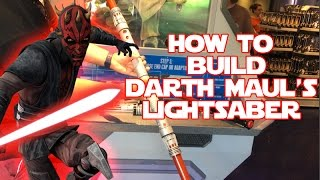 getlinkyoutube.com-Star Wars | Build your own Darth Maul Lightsaber toy at Disneyland