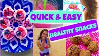 getlinkyoutube.com-Quick & Easy Healthy Snacks