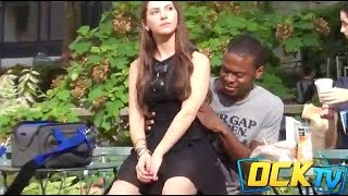 getlinkyoutube.com-Extreme Sitting On People Prank! (GIRLS EDITION)