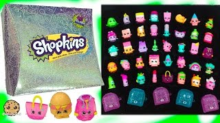 getlinkyoutube.com-Full Set of 40 Mystery Edition #3 Season 1 Shopkins & Exclusives In Hologram Box