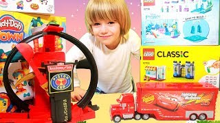Disney Cars Lightning Mcqueen crazy Crach at Home - 100+ cars toys giant egg surprise opening crash