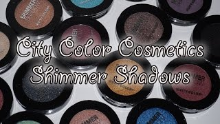 getlinkyoutube.com-City Color Shimmer Shadows - Review & Swatches