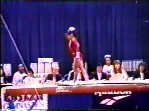 DOMINIQUE MOCEANU GYMNASTICS 1993 JR NATIONALS BALANCE BEAM ROUTINE