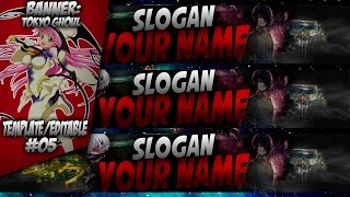 getlinkyoutube.com-Speed Art | Tokyo Ghoul | BG/Banner | Template/Editable #05 [Free Download]