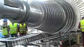 getlinkyoutube.com-Steam turbine Rotor turbine de vapeur GE.flv
