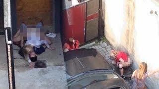 getlinkyoutube.com-Drunk Teens Turn Radio Block Party into Toilet Orgy