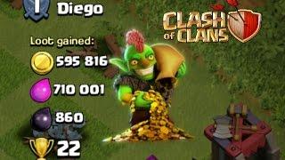 Clash of Clan - AWESOME 1.3+ Million Loot Raid!