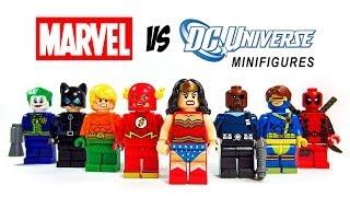 getlinkyoutube.com-LEGO DC vs Marvel Superheroes KnockOff Minfigures Set 2 (Bootleg) Wonder Woman Flash Joker Deadpool