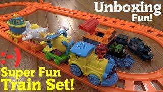 getlinkyoutube.com-Thomas & Friends Take N Play Luke and Ferdinand + A Train Play Set w/ Light and Music Unboxing