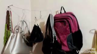 Q_VLOG#Tempat gantungin tas buatan sendiri :)