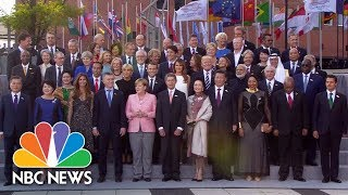 Leaders And Spouses Gather For G-20 Group Photo | NBC News