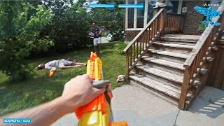 getlinkyoutube.com-Nerf War: Epic Free For All First Person Shooter (Halo and COD Style)