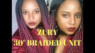 getlinkyoutube.com-Zury 30 inch braided wig color Sombre rt burgundy