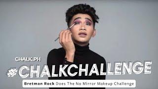getlinkyoutube.com-Bretman Rock Does The No Mirror Makeup Challenge | Chalk
