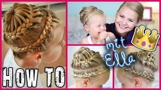 getlinkyoutube.com-SPECIAL CROWN BRAID - Mit ELLA! :) - Hair Tutorial