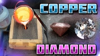 getlinkyoutube.com-Making Diamond Shaped Paperweight Out of Copper Start to Finish