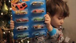 Best Christmas PRESENTS Hotwheels Transformers and SANTA!
