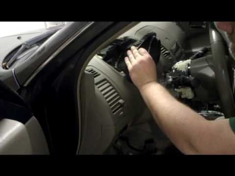 Remove and install the complete instrument cluster on 2005 Nissan Altima.