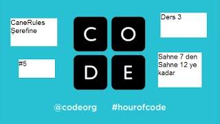Code org ders 3 sahne 7 den sahne 12 ye kadar çözümleri #5