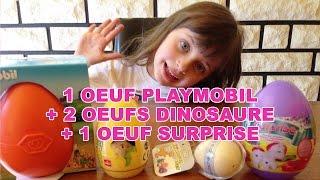 getlinkyoutube.com-[JOUET] Oeuf Playmobil , 2 Oeufs Dinosaures , 1 Oeuf Surprise - Surprise eggs toys