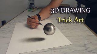 getlinkyoutube.com-Realistische Zeichnung einer Kugel als Optische Täuschung