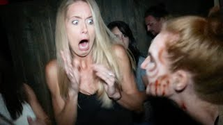 FUNNIEST REACTION TO HAUNTED HOUSE! (9.24.16 - Day 2704)