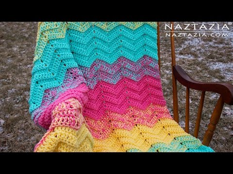 DIY Tutorial - How to Crochet Double Sweet Ripple - Baby Blanket Chevron Zig Zag Afghan Throw