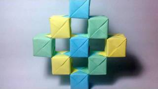 getlinkyoutube.com-Origami Moving Cubes using Sonobe units
