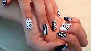 getlinkyoutube.com-Acrylic Nails Aztec Rising Society Desgins