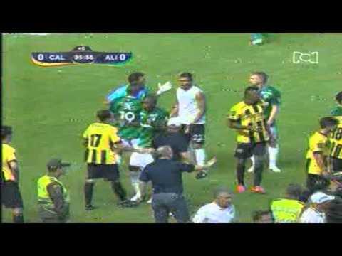 Pelea entre Deportivo Cali y Alianza Petrolera | LIGA AGUILA