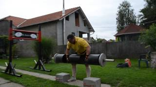 getlinkyoutube.com-Strongman - log lift 140 kg