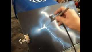 getlinkyoutube.com-Airbrush Practice - Lightning