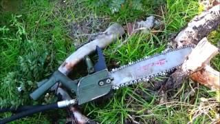 getlinkyoutube.com-Military Surplus Hydraulic Chain Saw