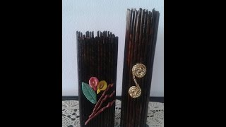 getlinkyoutube.com-DIY Home Decor - Recycling Ideas - How to make newspaper flower vase | newspaper crafts + tutorial
