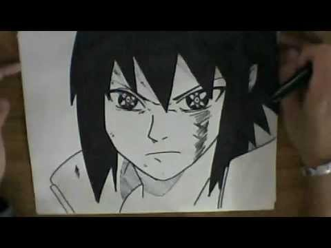 HOW TO DRAW SASUKE'S UCHIHA MANGEKYOU SHARINGAN