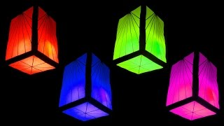 getlinkyoutube.com-How to Make Fancy Paper Lantern Cube (Christmas and Home Decorating Crafts) - HD