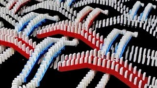 getlinkyoutube.com-Spectacular Domino Rally Stunt Screen Link