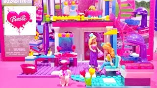 getlinkyoutube.com-Barbie Mega Bloks Glam Salon Build N Play Creative Set Review For Girls Worldwide