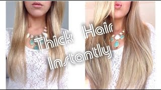 getlinkyoutube.com-Thick Hair Instantly ~ Foxy Locks Superior 230g Extensions ~ How To Clip In
