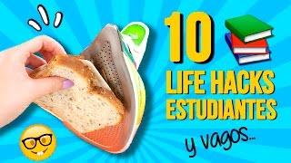 📚 ¡¡10 Divertidos LIFE HACKS para ESTUDIANTES!! (o VAGOS) * Los mejores TIPS UNIVERSITARIOS