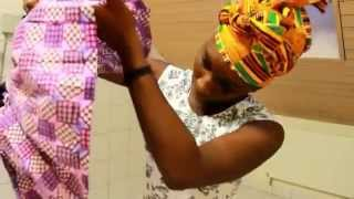 getlinkyoutube.com-DIY  Peplum top  (African Print)