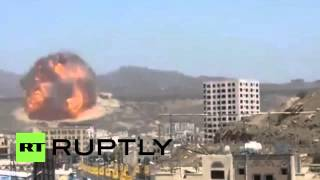 """قصف قاعدة صواريخ """"سكود"""" بصنعاء"""